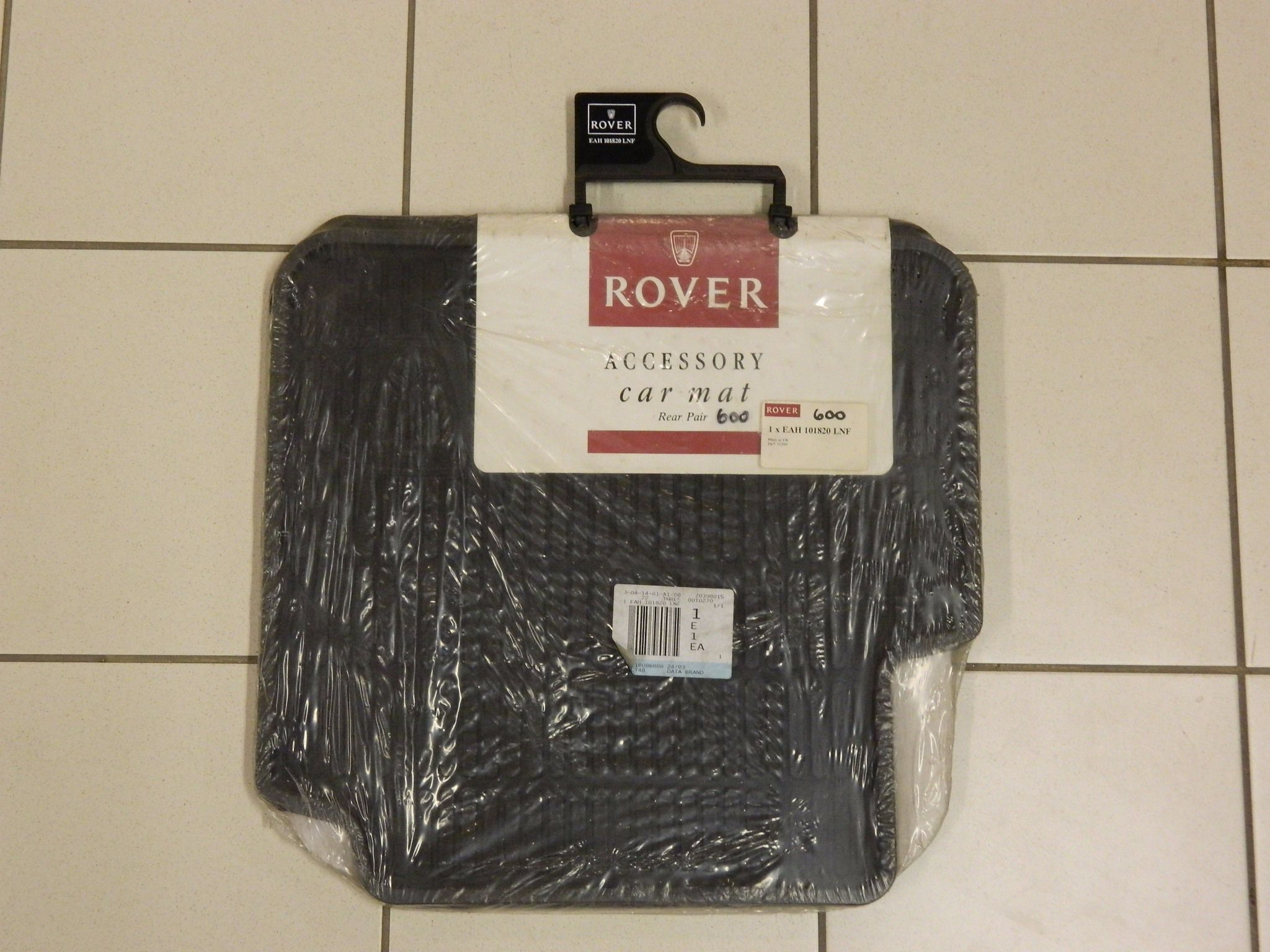 ROVER 600 REAR RUBBER MATS