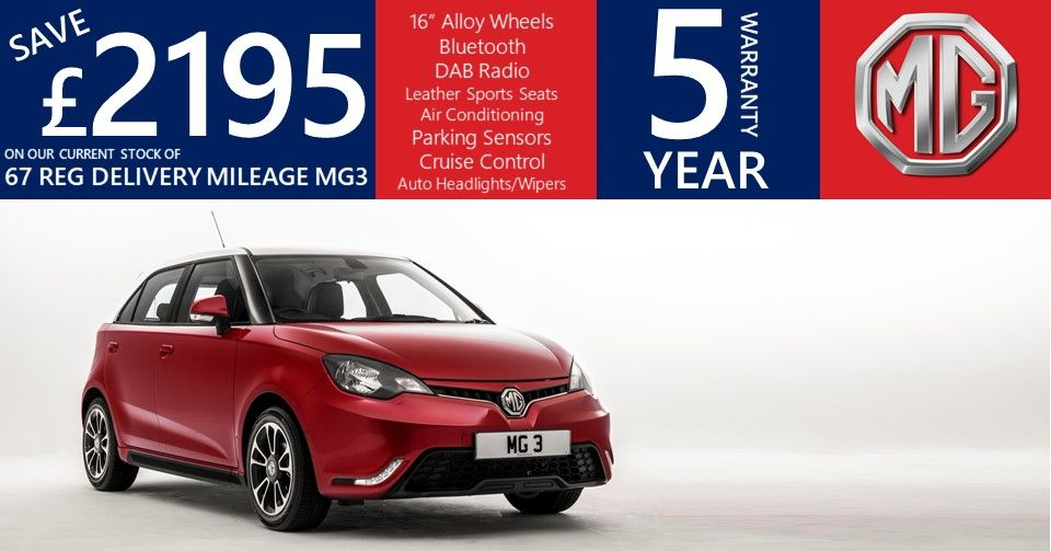 Save £2915 on a 2018 MG3.