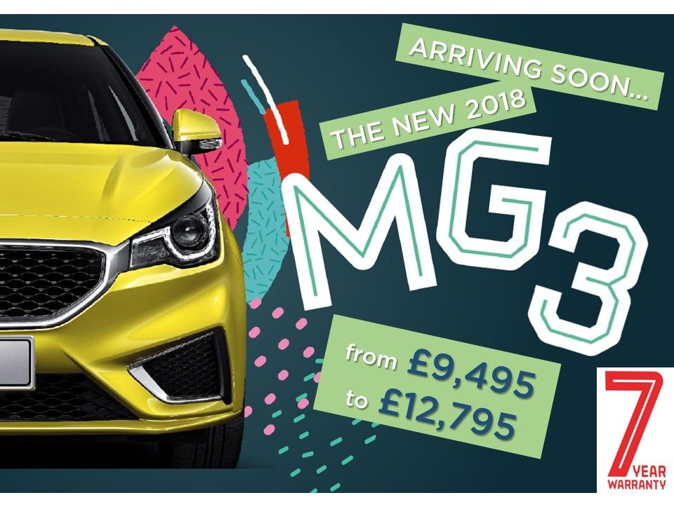 New 2018 MG3 Arrives Soon