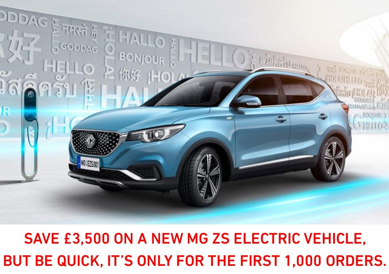 £3,500 Saving On MG ZS EV