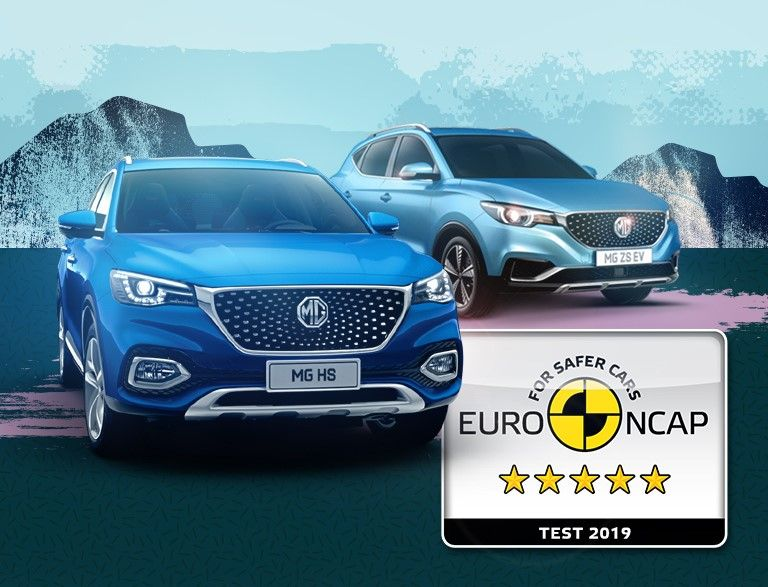 MG HS and ZS EV receive 5-Star Euro NCAP Rating!